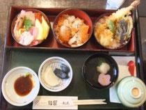 ご当地名物 はらこ飯(&海鮮丼&天丼)
