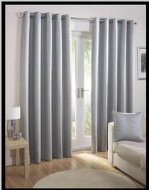 Grommet linen lined drapery panels