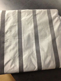 Pewter stripe 100%silk taffeta only $35 a yard and in ready made drapery