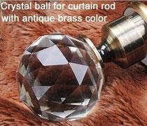 Beautiful crystal finials available at  Drapery King 416-783-7373