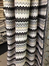 Missoni inspired Ready made drapery panels