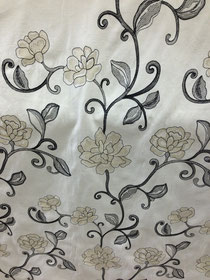 Look at the workmanship in this embroidered fabric