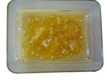 Hasch Öl Ablagerungen in Gefäß