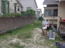 雑草対策工事 前