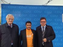 v.l.n.r. Egon Jüttner, Jameel Senan und Guido Wolf