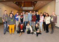 Schüler der Max-Hachenburg-Schule im Reichstagsgebäude