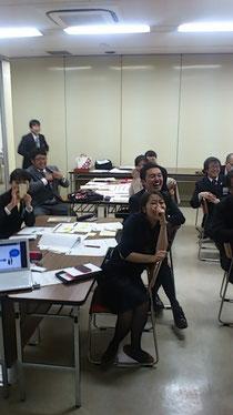 画像:家訓の発表で大爆笑される二本松JCの皆様