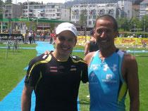 Mit dem Hawaii Sieger von 07' & 10' Chris Mc Cormack am Züri Triathlon