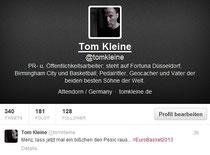 Twitter-Tweet von Tom Kleine mit dem Inhalt Menz, lass jetzt mal ein bißchen den Pesic raus
