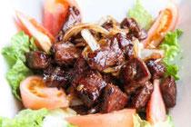 halal bo luc lac, halal vietnamese beef steak