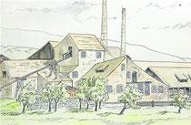 Skizze von der ehemaligen Ziegelei in Borstel