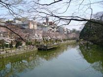 Ohtebori moat of Kanazawa Castle