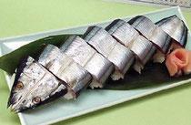お土産に自慢の一品「さんま姿寿司」