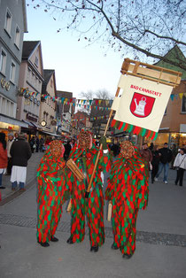Fasnacht figures in Bad Cannstatt.