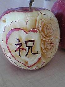 林檎のカービング Hさんの作品