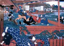 Attaque de Naganori Asano sur Kira