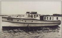 """MS """"HEIDI"""" 1946 alte Wehrmachtsbarkasse"""