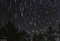 Trazos estelares alrededor de la estrella polar