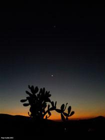 Venus, Júpiter y Luna