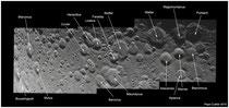 Mosaico lunar desde Boussingault hasta Purbach con ID