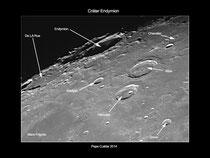 Cráter Endymion con textos