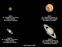 Marte y Saturno.