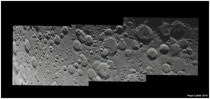 Mosaico lunar desde Boussingault hasta Purbach