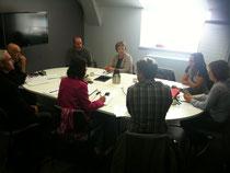 Le comité d'organisation, très concentré pour sa réunion de rentrée !