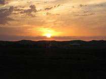 Sonnenuntergang über dem Naturschutzgebiet Abbestede