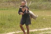 Hombre murunahua contactado por madereros en 1995. La mitad de su pueblo murió tras el contacto inicial. © Chris Fagan/Upper Amazon Conservancy