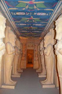 La réplica del templo de Abu Simbel por dentro. ©María Sánchez Mellado