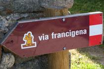 Símbolo de la Vía Francígena. CC: J.P.Lon