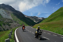 Two motorcyclists on a journey
