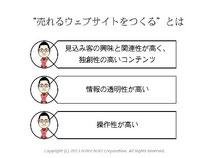 第5回アクセス解析セミナー 仙田利夫スライド 売れるウェブサイトをつくるとは