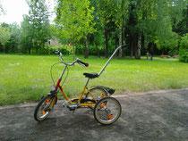 auf diesem Fahrrad durfte Elijah im SPZ Leipzig fahren