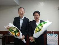 講演後、竹田先生と。