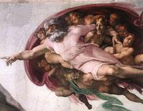 Michelangelo: Die Erschaffung Adams (Ausschnitt)