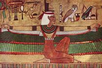 Isis - Ägyptisches Wandbild 1360 v. u. Z.