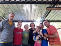 Miguel, Claudia und Federica - unsere liebe Gastfamilie