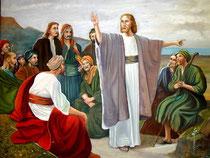 Am Sabbath fing er an in der Synagoge zu lehren