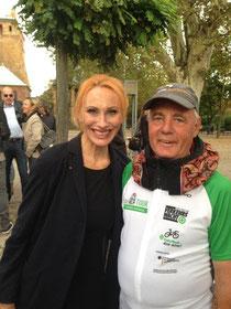Unser stellvertretender Geschäftsführer Hans-Peter Eckert mit der Schauspielerin Andrea Sawatzki