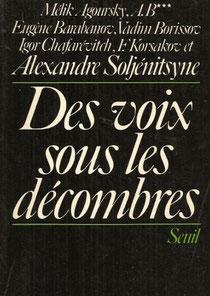 Des voix sous les décombres, Alexandre Slojénitsyne (1974)