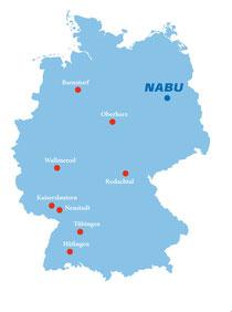Karte der Partnerkommunen