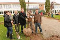 Die Baumpflanzer bei der Arbeit
