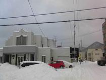 札幌ルーテル山の手教会と三角山