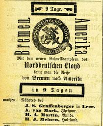 Anzeige 1886