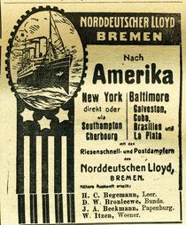 Anzeige 1909