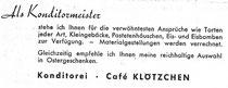 Cafe Klötzchen 1955