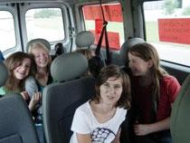 Und alle Stau-Mitfahrer kannten uns und unseren luschtigen Bus;-)
