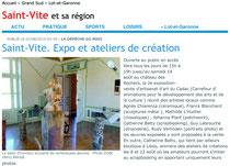 la depeche - article expo mosaïque - 8 aout 2010